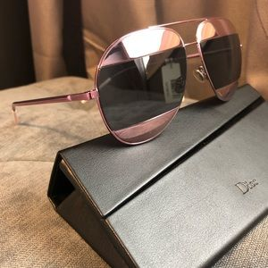 New Authentic dior split sunglasses pink